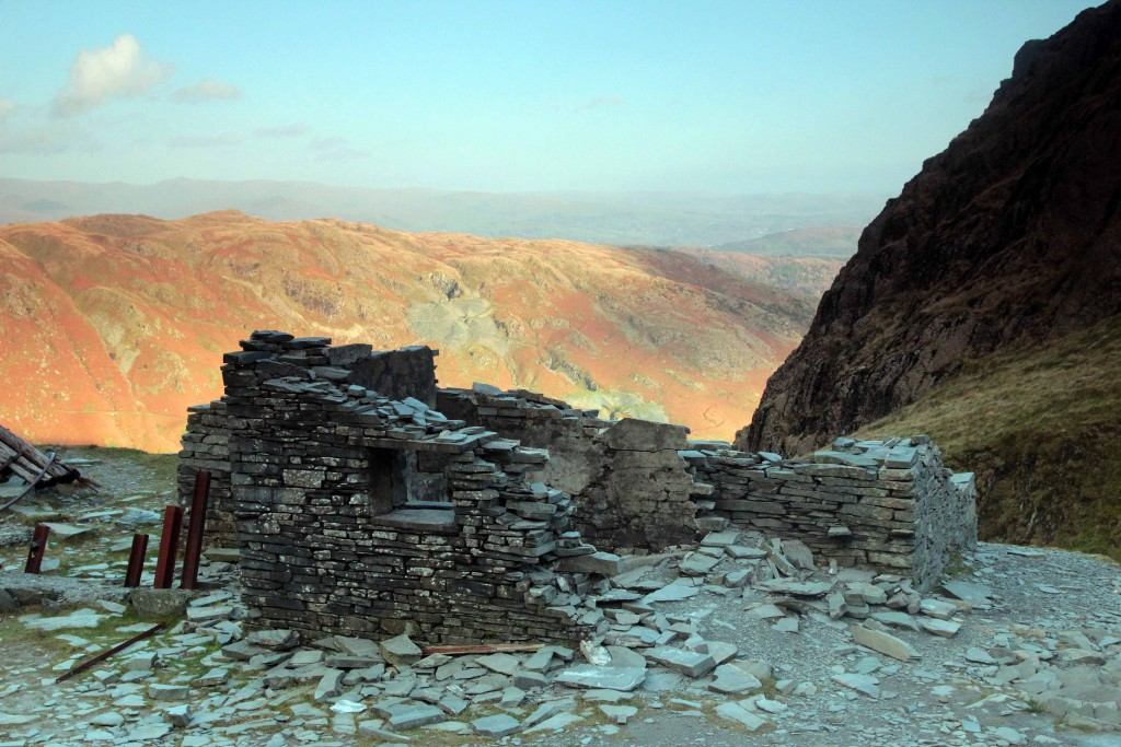 Activity holidays and short breaks in the Lake District. Mine workings on Coniston Old Man. Mountain photography holidays, guided walks and adventures