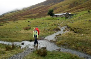 Leaving Black Sail Youth Hostel - A remote mountain hut