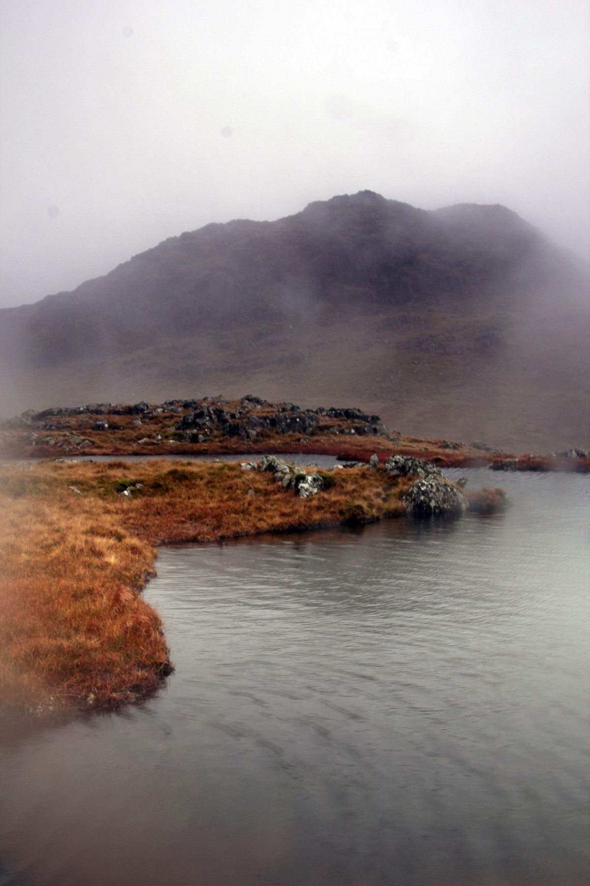 Cloud appears suddenly on Glaramara. Mountain Navigation for Photographers Course
