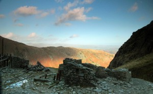 Golden Hour Photography - Mine working on Coniston Old Man