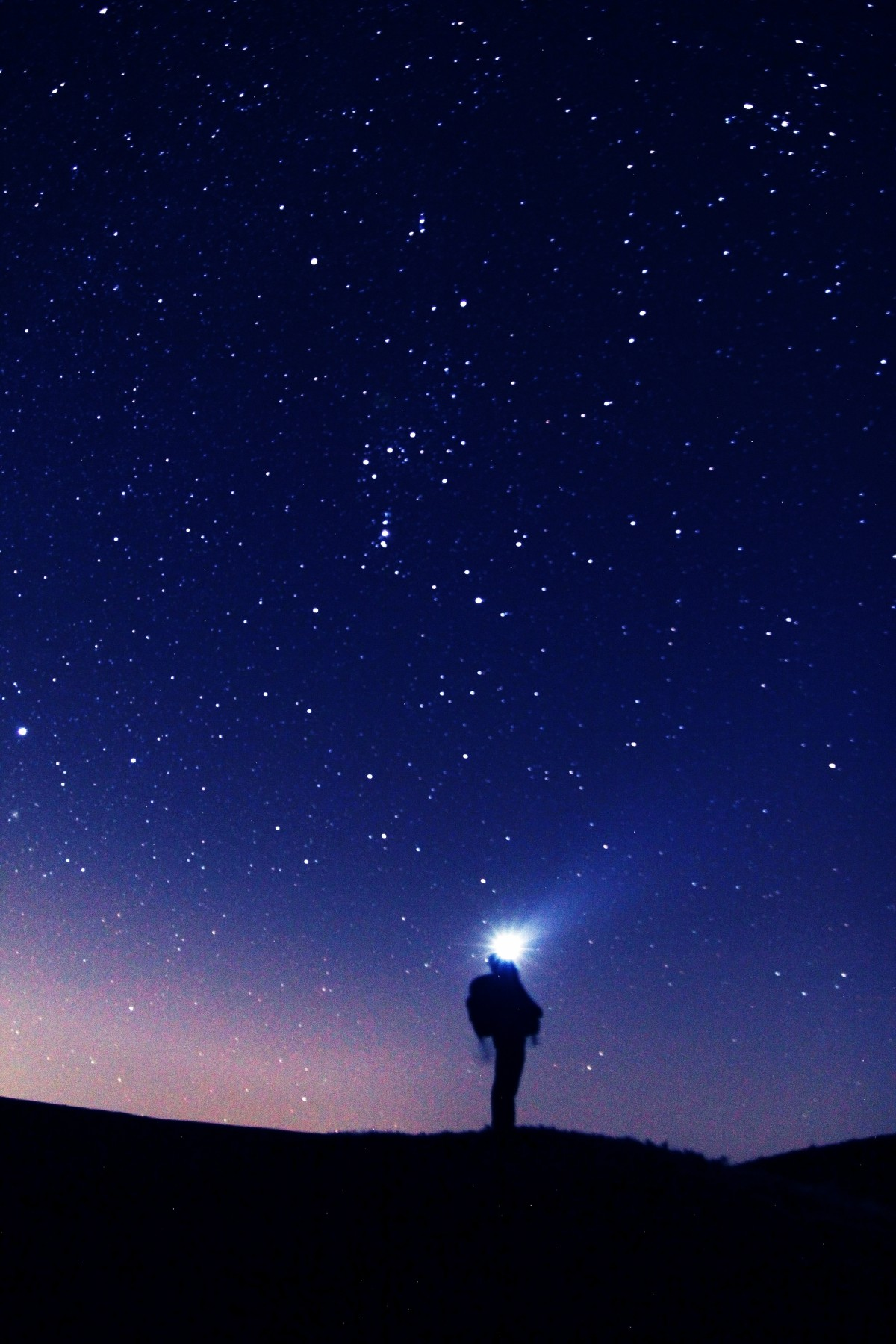 Night Sky Photography. Clear night sky over the Brecon Beacons