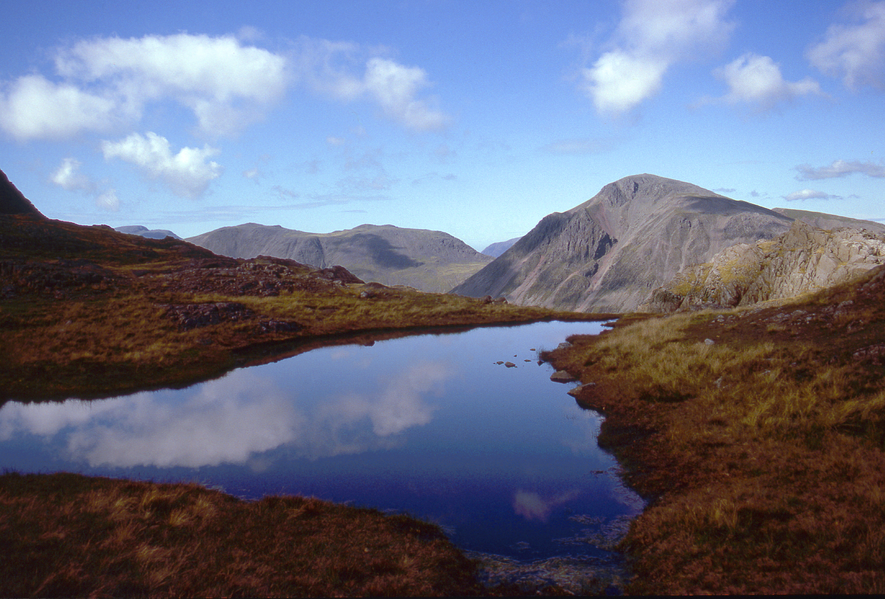 Great Gable from near the top of the Corridor Route on a clear day