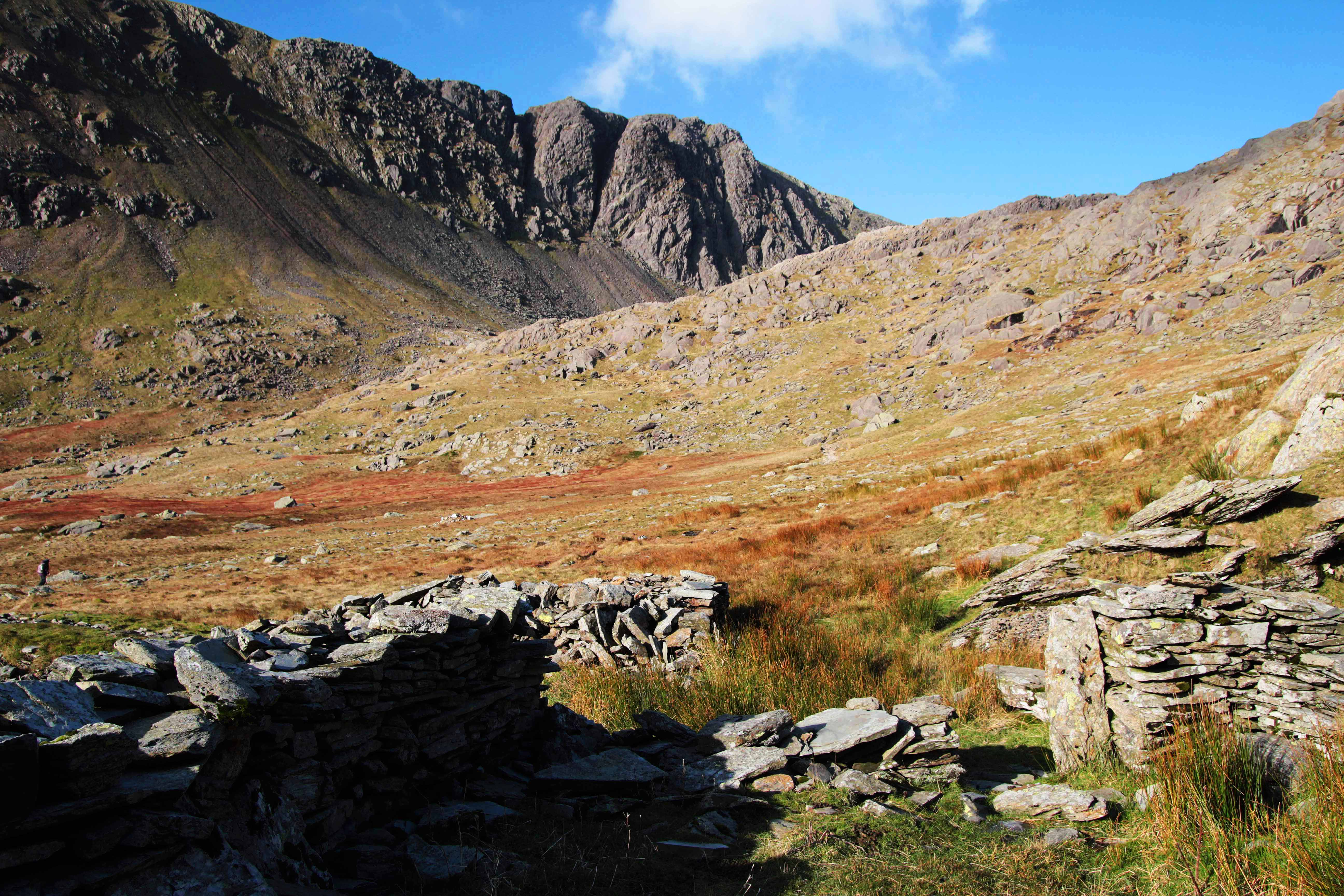 Dow Crag photographed from near Goats Water. The picture was taken during an ascent of Coniston Old Man. A classic mountain walk guided by Mountain Explorer.