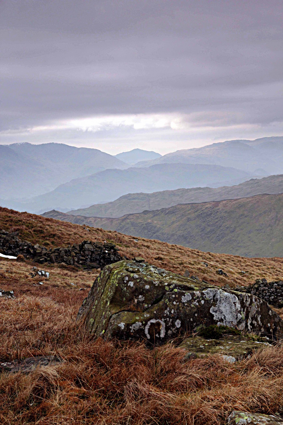 The view from Red Screes a classice mountain walk in the Lake District. Guided by Mountain Explorer