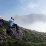 Guided mountain walk in the Lake District - The Band on Bowfell