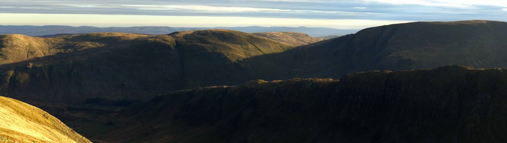 View from High Street towards Harter Fell and Kentmere - where Golden Eagles once flew