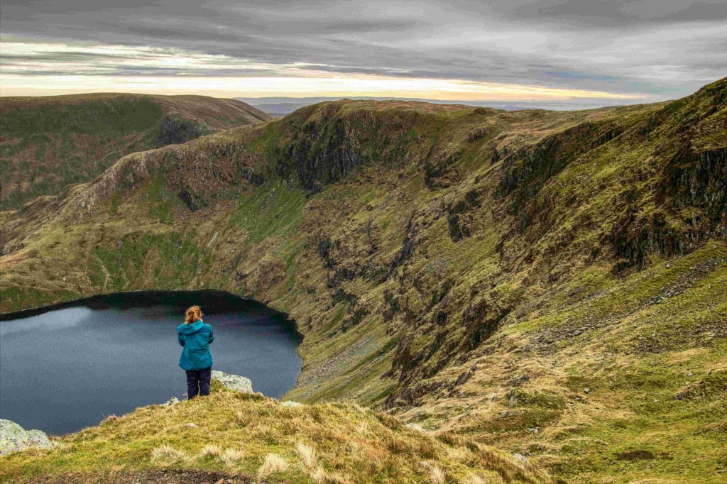 View towards Harter Fell, from Rough Crag above Haweswater. Haweswater was home to England's last pair of Golden Eagles